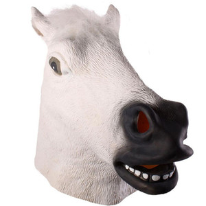 Wholesale horse face mask for sale - Group buy Cosplay Halloween Horse Head Mask Animal Party Costume Prop Toys Novel Full Face Head Masks with Sea Shipping CCA12442