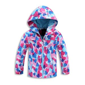 Wholesale waterproof windbreaker girls for sale - Group buy Girls children waterproof and warm cashmere children s clothes print girl s windbreaker hiking assault jackets