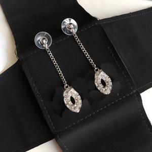 Woman Earrings Rhinestone Earrings for Gift Charm Top Quality Brass 925 Silver Pin Earrings Fashion Earring Jewelry