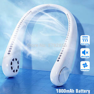 Wholesale cooler mini air conditioner resale online - 2020 Mini USB Portable Fan Neck With Rechargeable Battery Ultra quiet wind Wearable Fan handheld Air Cooler Conditioner for Room