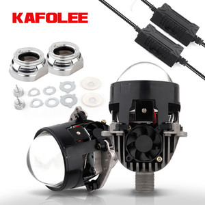Wholesale projector angel eyes resale online - KAFOLEE Bi LED Lens Angel Eyes Headlight Projector Lenses H4 H7 Projector LED Auto Car Lights DIY RHD LHD