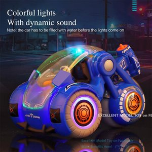 Wholesale used toys resale online - 2 G Watch Remote Control Spray Disinfection Stunt Car Toy Gesture Control WD in one Double Model Colorful Lights Xmas Kid Boy Gift USE