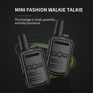 estaciones de radio al por mayor-PROFESIONAL MINI WALKIE TALKIE Estación de radio Transcepista de alta calidad Ultra Thin Ultra Small Walkie Talkie Radio de dos vías para caminar Camping
