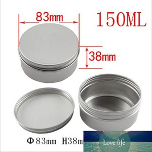 150ml 150g 5oz Empty Refillable Round Aluminum Tins Cosmetic Makeup Sample Packing Food Nail Ointment Jewelry Storage Container Bottle