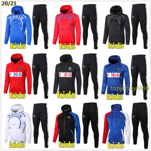 çocuklar için kapüşonlu toptan satış-20 kids soccer tracksuit Hoodie jacket football training kids football tracksuit survetement chandal Hoodie
