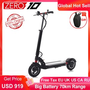 Newest Zero 10 electric scooter foldable Adult Electric scooter lightness instead of walking Universal scooter