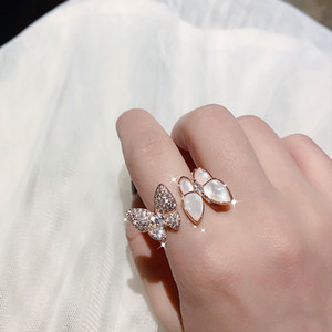Wholesale wedding rings open for sale - Group buy Fashion Luxury Shine Butterfly Zircon Rings for Women High Quality Alloy Open Adjustable Wedding Party Jewelry Gifts