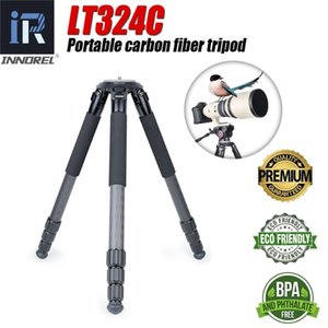 Wholesale video carbon fiber resale online - LT324C Professional Layers Carbon Fiber Tripod Flexible Selfie Photo M Max Height Tripod Stand for Sports Video Cameras