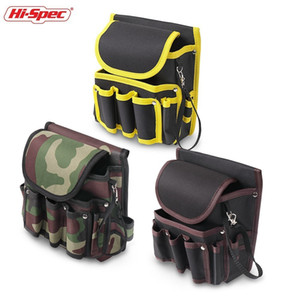Wholesale canvas nylon tool bags resale online - Hi Spec Water Proof Electrician Tool Bag D Work Waist Bag Tool Belt DIY Nylon Canvas Storage Pouch Bag Holder Tool Organizer CX200822