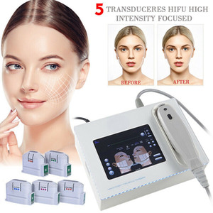 Medical Grade High Intensity Focused Ultrasound Hifu Machine Face Skin Lift Wrinkle Removal Body Slimming With 5 Heads Cartridges 10000 Flashes