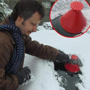 Wholesale Round Windshield Ice Scrapers Magic Cone-Shaped Car Windshield Ice Scrapers Car Snow Removal Shovel Tool