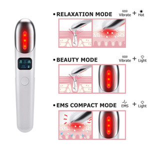 Wholesale eye care beauty instruments resale online - EMS Vibration Eyes Massage Red Light Therapy Anti Wrinkles Remove Dark Circle Anti Aging Eye Care Hot Massager Beauty Instrument