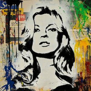 Wholesale painting girl figure for sale - Group buy Mr Brainwash Kate Moss Cover Girl Home Decor Handcrafts HD Print Oil Painting On Canvas Wall Art Canvas Pictures