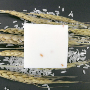 Wholesale skin whiten soap resale online - Handmade g Rice Milk Soap Whitening Moisturizing Brighten Skin Wash Face Body Cleaning Soap TSLM2