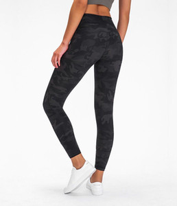 """L-2041 fitness yoga leggings in movement 7 8 tight 25"""" everlux new yoga female quick-drying breathable high waist hip sports leggings"""