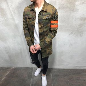 Wholesale mens army camouflage clothing resale online - New Mens Camouflage Military Spring Autumn Cargo Plus Size S xl Casual Man Jackets Army Clothes Brand
