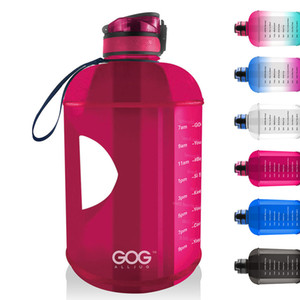 Wholesale gallon water bottles resale online - 128OZ Hot sale New Product PETG BPA Free One Gallon L water bottle with Straw time marker Lid GYM Water Bottles Kettle