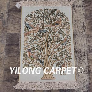 teppichkollektion großhandel-YiLong x1 Line persischer Seide Teppich Weinlese Multicolor Tree Of Life Art Collection Tapestry LH691A1 x1