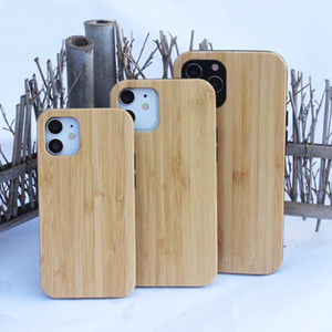 Wholesale white maple wood resale online - ODM Real Wood Case For Iphone Smartphone Cover Real Maple Wooden Bamboo TPU Hard Back Cases Shockproof Fatory Selling
