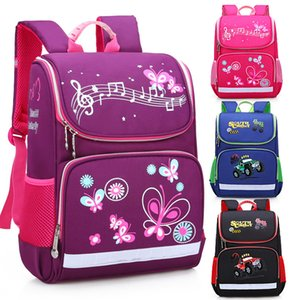 Wholesale school boy car bags resale online - New Children School Bags Girls Butterfly School Backpack Kids Satchel Boy Car Knapsack Girl Backpack For School Space Bag