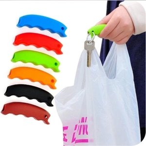 Wholesale silicone shopping bag handle resale online - HOT SALE PC Silicone Mention Dish For Shopping Bag to Protect Hands Trip Grocery Bag Clips Handle Carrier Grocery Holder Handle