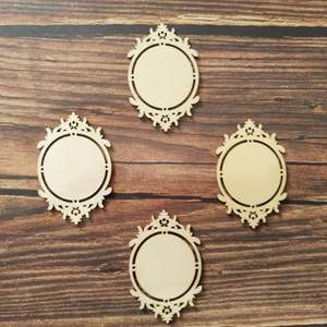 Wholesale diy mirror frame for sale - Group buy 10x Vintage Classic Wooden Mirror Frame Shapes Wood Embellishment Ornament for Scrapbooking Card Wall Hanging DIY Frames