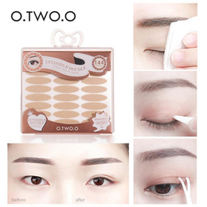Wholesale invisible eyelid makeup for sale - Group buy O TWO O Double Eyelid Tape Pairs S L Long Lasting Waterproof Eye Lift Invisible Natural Eye Tape Makeup Tools With Box