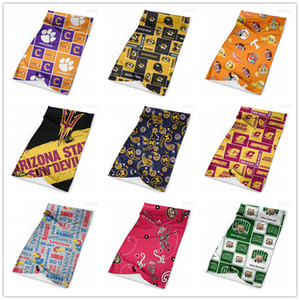 Wholesale face mask tube resale online - NCAA College Seamless Bandana for Rave Face Mask Dust Wind UV Sun Neck Gaiter Tube Mask Headwear Motorcycle Cycling Riding Running Headbands