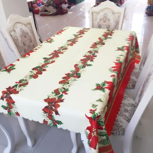 Wholesale tablecloth christmas resale online - New Hot Sale Christmas Decorations Rectangular Tablecloth Prints Creative Christmas Wedding Outdoor Tablecloth