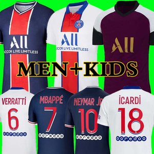 soccer jerseys Paris 20 21 MBAPPE Maillots de football shirts 2020 2021 NEYMAR JR ICARDI men + kids kit enfants maillot de foot 4th fourth