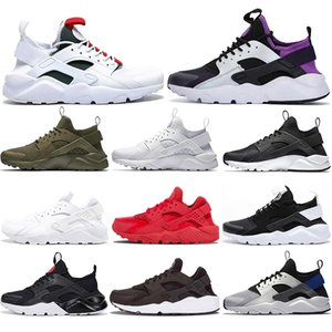 New Cheap 2020 Huaraches Ultra men running shoes 4.0 Purple Green red Oreo white pure platinum women mens Trainers Athletics Sport Sneakers