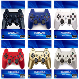 joystick duplo venda por atacado-Controladores PS3 Controlador Sem Fio Bluetooth Game Double Shock para Playstation PS3 Joysticks Gamepad com caixa de varejo DHL GRÁTIS