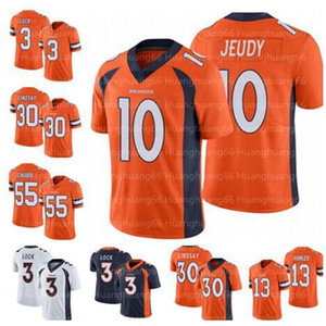 10 Jerry Jeudy DenverJersey Bronco3 Drew Lock Jersey 30 Phillip Lindsay 58 Von Miller 7 John Elway 55 Bradley Chubb men