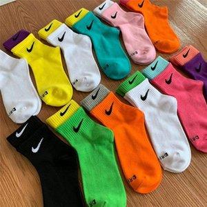 Fall winter Women designer cotton socks brand black sports stockings Casual lady Mid Socks high quality Breathable knit socks free DHL 3699