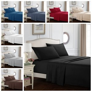 anzug fall großhandel-Pure Color Bettwäsche Sets Twin Full Queen King Size Comforts Set Bettscheiben Bettbezüge Kissenbezug Klage Bettdecke Deckblatt WO H1
