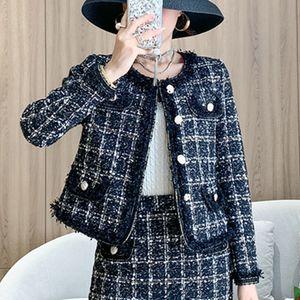 Autumn Vintage Jackets Coat Women Tweed Tassel Chic Double Breasted Long Sleeve Slim Jacket Tops Female Outwear T200814