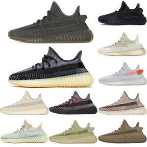Wholesale art for shoes for sale - Group buy New Kanye West kids mens running shoes for women israfil Linen Static Reflective v2 zebra sime frozen trainers outdoors sneakers size