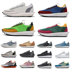 gri kadın ayakkabıları toptan satış-sacai x ldv waffle daybreak running Varsity Blue Mens Casual Shoes Summit White Black Nylon Wolf Grey platform Women men trainers Sports Sneakers Chaussures