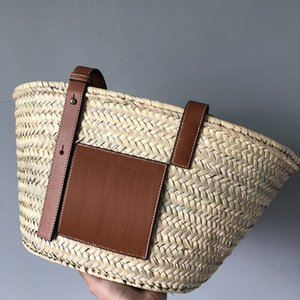 Wholesale microfiber beach bags for sale - Group buy Travel Luxury Designer Summer Original Bags Totes Bag Brand Quality Straw Beach Basket Big Handbag Women High Slkcq