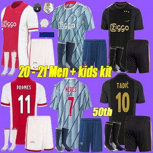 2020 ajax FC soccer jersey 50th 2020 2021 PROMES VAN DE BEEK DAVID NERES TADIC ZIYECH ajax football shirts men +kids kit