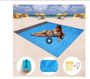 Wholesale foam beach mat resale online - 2M M Waterproof Beach Blanket Outdoor Portable Picnic Mat Camping Ground Mat Mattress Camping Camping Bed Sleeping Pad