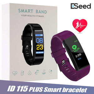 Color Screen ID115 Plus Smart Bracelet Fitness Tracker Band Heart Rate Blood Pressure Monitor Smart Wristband