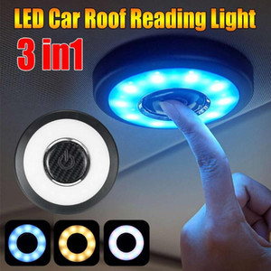 Wholesale roof types for sale - Group buy Wireless Led Usb Car Interior Ceiling Dome Light Reading USB Charging Roof Magnet Lamp Touch Type Night Light Trunk Rechargeable