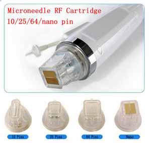 Disposable replacement 10 25 64 nano pin head gold cartridge fractional RF microneedle microneedling micro needle machine cartridges tips