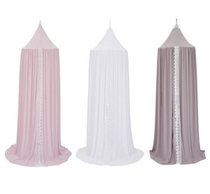 Wholesale room decorations girl resale online - Nordic Canopy Princess Girls Lace Mosquito Net Round Dome Bed Canopy Chiffon Mosquito Net Curtain For Kids Girl Room Comfort Decoration