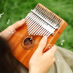 Wholesale piano keys resale online - Creative Keys Kalimba Thumb Piano High Quality Wood Mahogany Body Musical Instrument Tune Hammer For Beginner Finger Piano