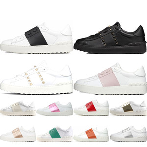 Wholesale sport shoes heels for sale - Group buy Men Women Dress Shoes White Black Red Golden triple black top fashion Mens Womens Leather Shoes Open Low Sneakers sports outdoor shoes
