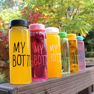 Wholesale lemon juice bottle resale online - Creative Lemon Water Bottle ML Portable Clear Frosted Glass Bottle Sports Bicycle Travel Fruit Juice Water Cup Drinkware VT1489