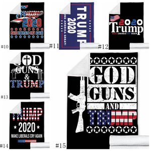 Wholesale make blankets for sale - Group buy 25style Trump Blankets cm D Printed Trump Blanket Layer Winter Throw Blanket Make America Great Again Fleece Shawl GGA3638