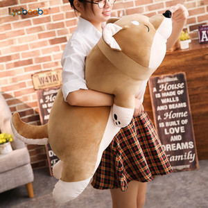 1pc Cartoon Lying Plush Stuffed Dog Big Toys Shiba Inu Dog Doll Lovely Animal Children Birthday Gift Corgi Plush Pillow 40-100cm Y200723